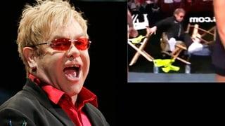 Musiklegende am Boden: Hier fällt Elton John vom Hocker