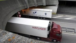 Weniger Lastwagenverkehr über die Alpen ist nicht in Sicht