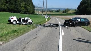 Aargau: Drei schwere Unfälle mit einem Todesopfer