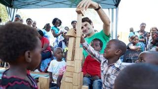 Wohltätige Mission: Roger Federer auf Besuch in Südafrika