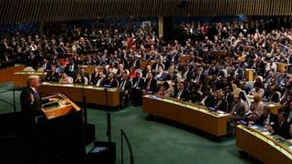 Was ein US-Präsident innerhalb und ausserhalb der UNO wirklich bewirken oder verhindern kann, lesen Sie hier.