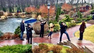 Das Volk besucht die verlassene Präsidentenvilla