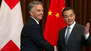 Chinesen wollen mit Freihandel den Schweizer Markt entwickeln