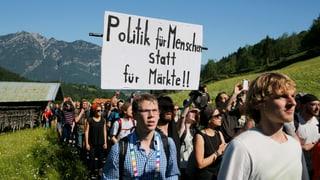 Mit Märschen und Sitzblockaden gegen den G7-Gipfel