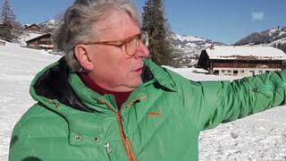 Kunst auf der Piste: Roman Signers Skihütte in Aktion