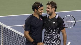 Federer trotzt Regen, Gewitter und starkem Wawrinka