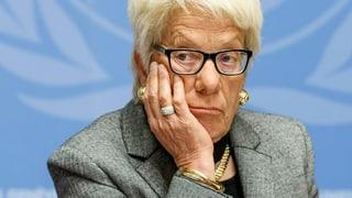Carla del Ponte verlässt UNO-Untersuchungskommission zu Syrien