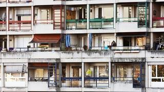 Günstiger Wohnraum wird knapp in den Städten, auch in der Schweiz gibt es mehr Obdachlose