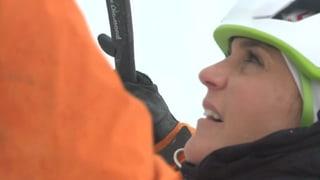 Annina Frey beim Eisklettern: «Ich dachte, ich schaffe es nicht»