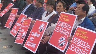 In Südkorea ist man wenig erfreut über Donald Trumps Besuch