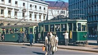 Weichen stellen für ein Tram in der Stadt St. Gallen