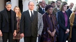 Charlène und Letizia gedenken der Opfer von Paris