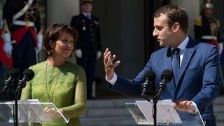 «Positive Signale» nach Treffen zwischen Leuthard und Macron