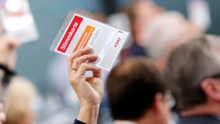 CDU stimmt für grosse Koalition