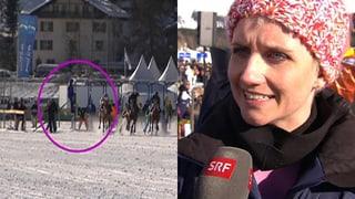 Steffi Buchli von Pferd sitzen gelassen