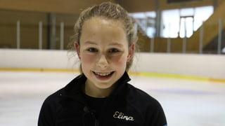 Elina, die Eiskunstläuferin