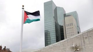 Palästina zeigt Flagge bei der UNO