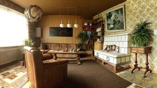 Wohnzimmer der Familie Giovanoli – 360°-Ansicht
