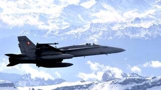 Schweizer Luftwaffe fliegt nur zu Bürozeiten