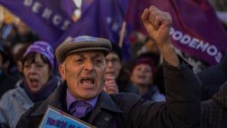 Zehntausende Podemos-Anhänger protestieren in Madrid