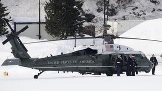Wie Donald Trump in der Schweiz empfangen wurde.