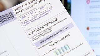 Jetzt geht's vorwärts mit dem E-Voting