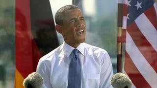 Eloquent auch ohne Jackett: Obama spricht am Brandenburger Tor