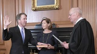 Kavanaugh legt nach Bestätigung Amtseid ab