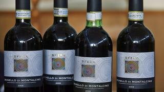 Fusel statt Brunello: 30'000 Flaschen Wein beschlagnahmt