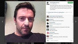 Auffallendes Pflaster: Hugh Jackman hat Hautkrebs