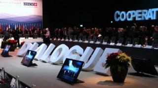 Viel Lob für die Schweiz am OSZE-Ministertreffen