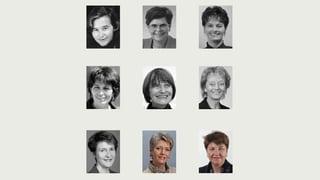 Die 9 Bundesrätinnen