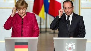 Merkel und Hollande demonstrieren den Schulterschluss