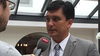 Christoph Buser startet seinen Wahlkampf gegen Claude Janiak