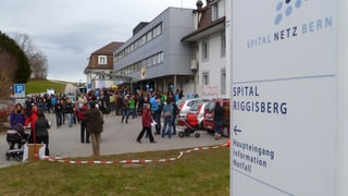 Friedlicher Protest gegen Schliessung der Geburtsabteilung