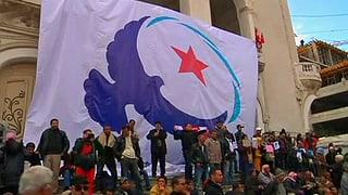 Demonstration für islamische Regierungspartei in Tunis