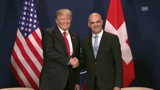 Discurs cun la Svizra: Trump e Berset d'accord d'approfundar las relaziuns