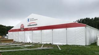 Zu Besuch bei den freiwilligen Helfern, die am Aufbau des Zürcher Kantonalturnfests beteiligt waren.