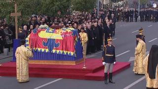 Staatsbegräbnis für ehemaligen König Michael I.