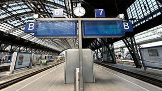 Bahnstreik in Deutschland: Massive Zugausfälle ab Mittwoch
