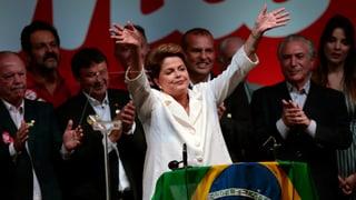 Rousseff äusserst knapp wiedergewählt