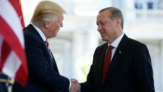 US-Präsident Trump hat seinen türkischen Amtskollegen Erdogan empfangen. Die beiden priesen dabei ihre Zusammenarbeit.