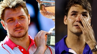 Ungleiche Tennis-Helden: Cooler Wawrinka, emotionaler Federer