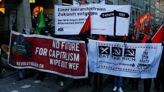 Demonstraziuns betg lubidas cunter WEF