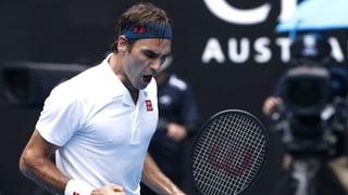 Starker Federer ohne Satzverlust in Runde 3