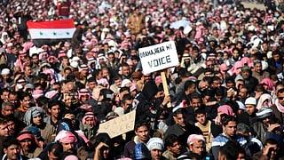 Sunniten protestieren gegen Iraks Regierungschef