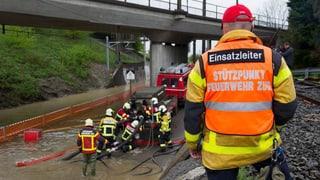 Unwetter stören Bahnverkehr in der Schweiz