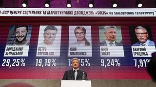 Selenski und Poroschenko erreichen Präsidentenstichwahl