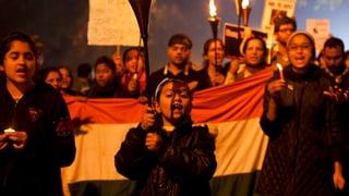 Demonstranten fordern Wandel der indischen Gesellschaft