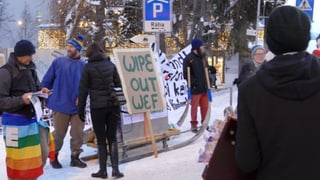 Die WEF-Demonstration lockt kaum Menschen nach Davos